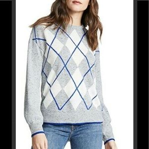 Cupcakes and Cashmere NWT argyle sweater size Med